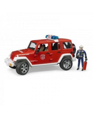 Пожарная машина Jeep Wrangler Unlimited Rubicon с фигуркой BRUDER Артикул 02-528